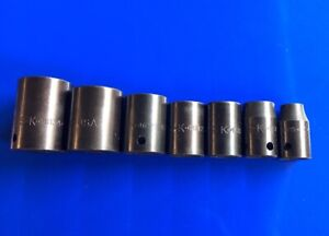 S k Tool Sk 1 2 Drive 6 point Impact Sae Socket Set Of 7 New Mint