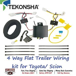 118729 Tekonsha T one 4 Way Flat Trailer Wiring Connector Kit For Toyota Scion