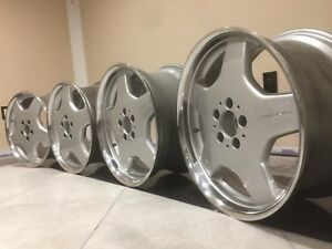 Mercedes Amg 18 S500 S55 S430 E55 E430 Cl55 Wheels Monoblock Staggered Oem