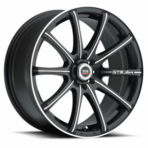 4 spec 1 Sp 19 18x8 4x100 4x4 5 38mm Black machined Wheels Rims