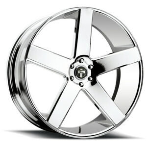4 Dub S115 Baller 24x10 5x5 20mm Chrome Wheels Rims 24 Inch