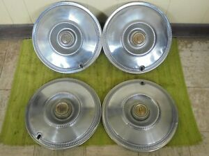 1966 Chrysler Hub Caps 14 Set Of 4 Wheel Covers 66 Hubcaps