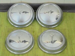 1960 Plymouth Dog Dish Hub Caps 10 Set Of 4 Mopar 60 Hubcaps