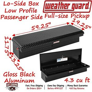 179 5 01 Weather Guard Black Aluminum Lo Side Low Profile Toolbox Passenger Side