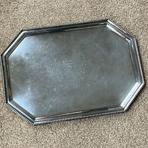 Reed Barton Vintage 1895 Silver Soldered Serving Tray