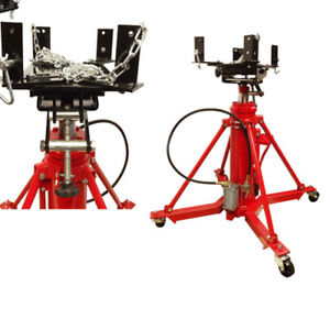 Heavy Duty Air Manual Hydraulic Telescopic Transmission Jack Under Hoist 1 Ton