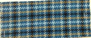 Bty Vintage Auto Upholstery 1977 Ford Mustang Ii Blue Plaid 233