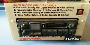 Vintage Sparkomatic Sr3200am Fm Cassette Stereo Car Radio Tuner With Cd Input