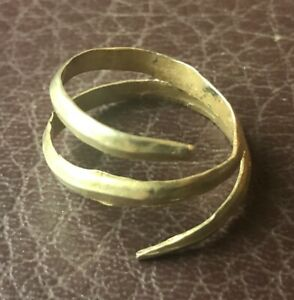 Authentic Ancient Artifact Viking Gold Serpent Ring 9th 10th Century Ad Vk90