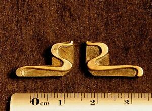 2 X Art Nouveau Ornament Bookbinding Brass Type Letterpress Hot Stamp Leaves