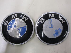 Bmw Trunk Hood Emblem Ornament Set Of 2 Pieces Oe 51 14 1872969 W Paint Loss