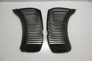 1938 Nors Repo Ford Coupe Sedan Front Center Grille Pair Metal Trim Molding