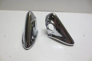 1956 Chevrolet Chevy Bel Air 150 210 Rear Re chromed Bumper Guards Original Pair