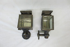 Rare Vintage 1910 S 1920 S Oil Coach Cowl Lights Cabin Lantern Original Pair