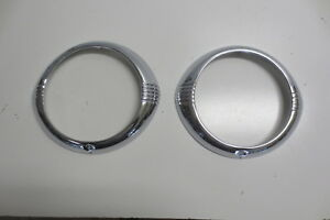 1942 1946 1947 1948 Chevy Headlight Bezels Fleetline Fleetmaster Show Chrome