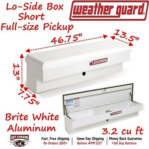 185 3 01 Weather Guard White Steel Lo Side Mount Box 47 Truck Toolbox
