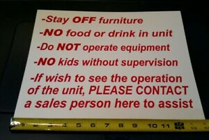 25 Stay Off The Furniture Sign No Kids No Food Or Drink