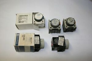 5x Used Telemecanique La2 d22 Time Delay On Delay Timer Switch