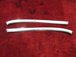 1963 1964 Cadillac Front Center Interior Upper Windshield Aluminum Trim Sections