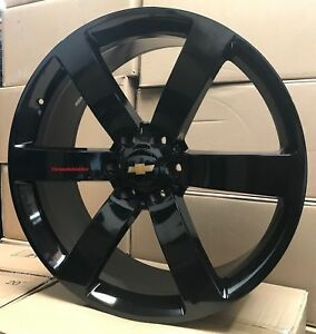 22 Wheels Tires Chevy Ss Trailblazer Rims Gloss Black Silverado Tahoe Yukon