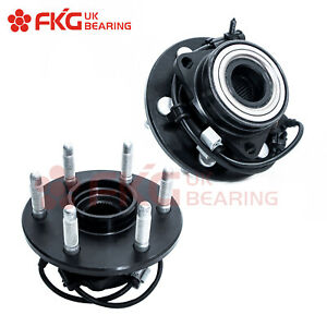 2 Front Wheel Hubs Bearings Pair W Abs For 99 06 Chevy Gmc Truck 4wd 515036