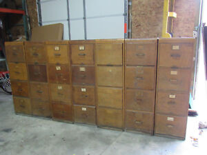 Amazing Rare 7 Section File Cabinet Oak Library Burea Sole Makers 28 Drawers