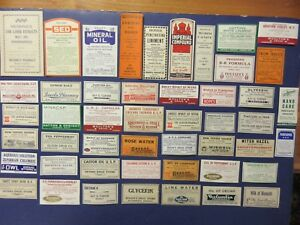 48 Old Pharmacy Apothecary Medicine Bottle Labels Vintage Ephemera Diff