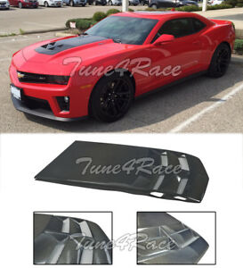 For 10 15 Camaro Zl1 Style Ls Lt Rs Ss Heat Extractor Hood Insert Carbon Fiber