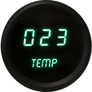 Universal Digital Oil Temperature Gauge Green Leds Black Bezel Made In The Usa