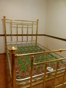 Antique Brass Bed Full Size Includes Old Set Of Springs