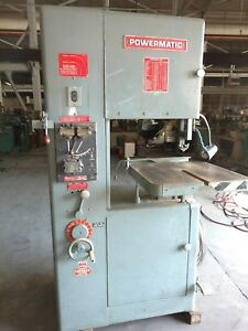 20 Powermatic Vertical Band Saw Model 87