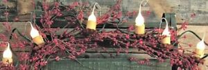 Electric Country Warm Set Lights W 12 Bulb Rustic Clip On Cups Ap