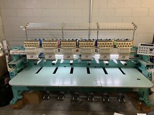 Tajima Commercial 6 Head Embroidery Machine Tmfxii c1206 Used