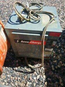 Hobart Accu charge Forklift Battery Charger 510b1 6 12 Volts