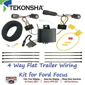 118674 Tekonsha T One 4 Way Flat Trailer Wiring Connector Kit For Ford Focus