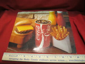 Vintage Coca Cola Advertising Burger and Fries 10
