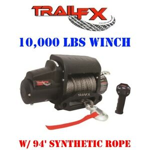 Ws10b Trail Fx Recovery Tfx 10 000 Lbs Winch W 94 Synthetic Rope