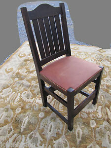 Antique L Jg Stickley Early Dining Chair Mission Oak W3132