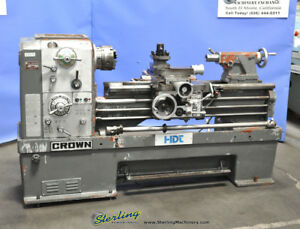 18 26 X 42 Used Ta Shing Crown removable Gap Bed Engine Lathe 2 1000 A3070