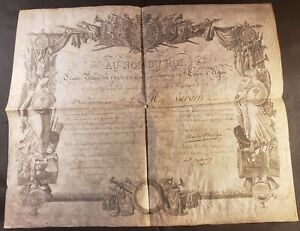 King Charles X Charles Philippe Autograph National Guard Diploma 1816