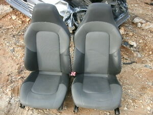 04 Chrysler Crossfire Black gray Leather Heated Power Seats
