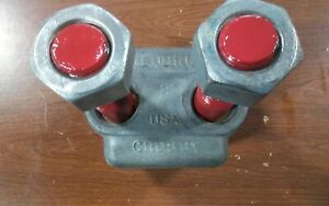 crosby 2 Wire Cable Rope Clip Clamp G 450 Red u bolt 1010373