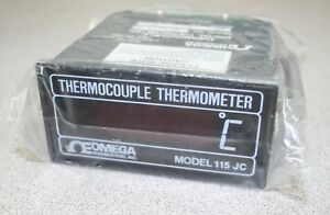 Omega Thermocouple Thermometer Model 115jc 117 Vac 230 Vac