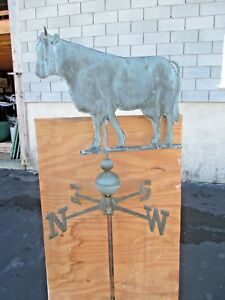 Vintage Copper Cow Full Bodied Weather Vane Large