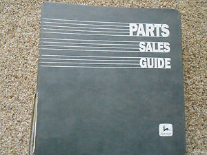 John Deere Parts Sales Guide In John Deere 3 ring Binder