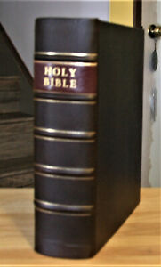 Large 1835 Antique Holy Bible Professionally Restored Beautiful