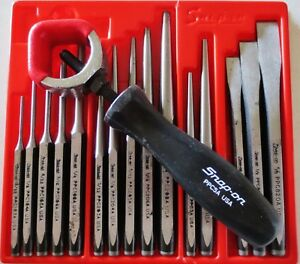 Snap On Tools 15pc Punch And Chisel Set Ppc715a Plus Ppc5a New Holder