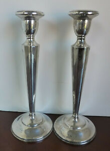 Matching Pair Redlich Sterling Silver Standing Candle Holders 319