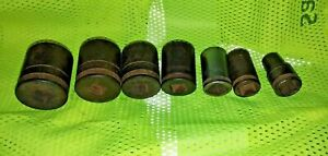 Socket Set Craftsman 1 2 Drive Impact 12 Point With Universal Vintage Rusty