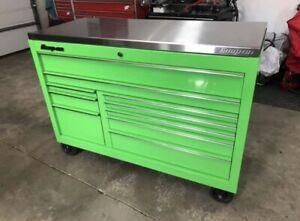 Snap On Extreme Green Tool Box W Stainless Top And Cover Kra2422pjj
